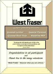 Adjudicator's Choice Supporter ~ WEST FRASER MILLS